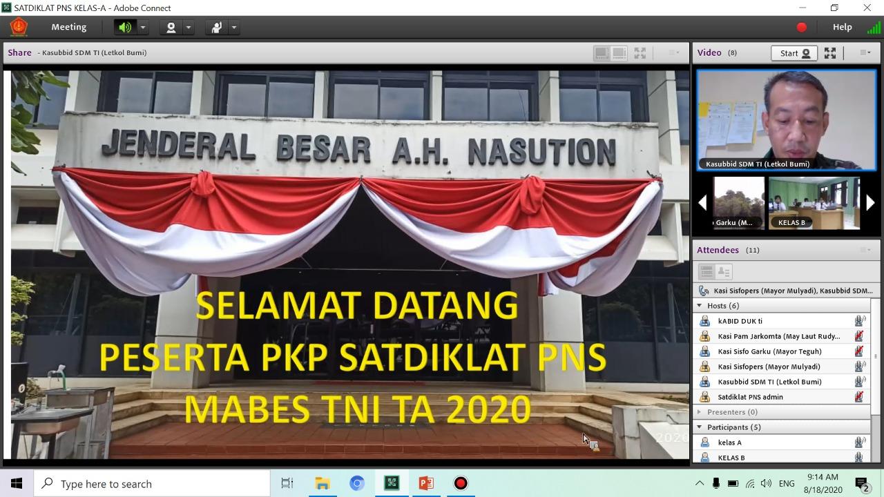 Studi Lapangan Siswa Pelatihan Kepemimpinan Pengawas (PKP) PNS Mabes TNI di Pusinfolahta TNI